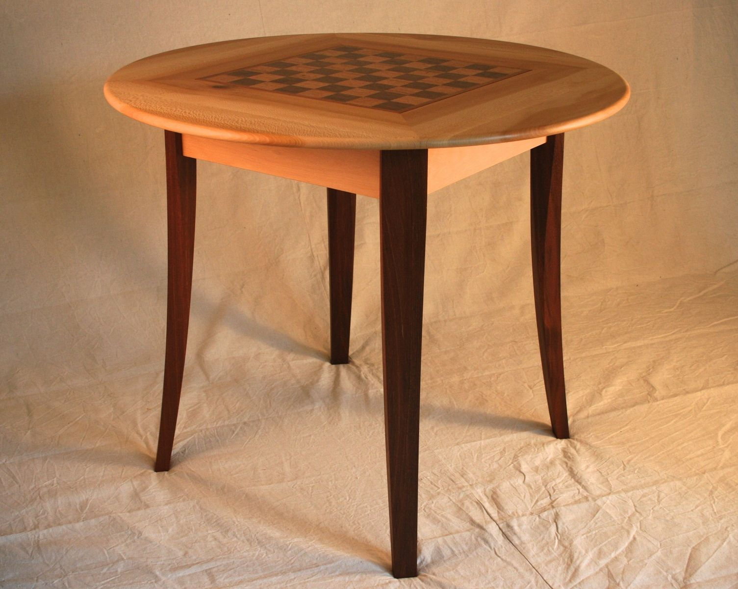 Hand Crafted Multi Wood Game Table By Culbertson Design