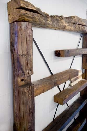 custom made reclaimed wood wall shelf by union square. Black Bedroom Furniture Sets. Home Design Ideas