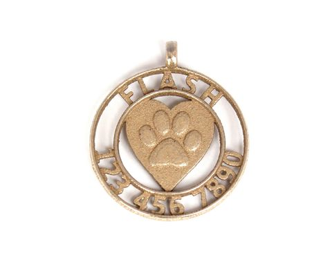 Custom Made Custom Designer Pet ID Tag