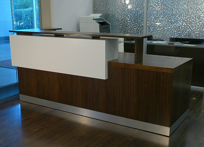 cool custom reception desk furniture | Hand Crafted Duchamp Reception Desk: Contemporary ...