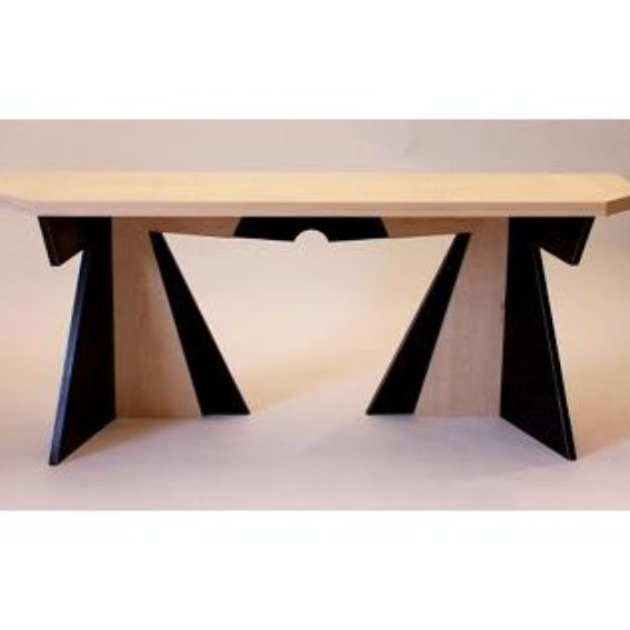 hand crafted folding console table by works in wood. Black Bedroom Furniture Sets. Home Design Ideas