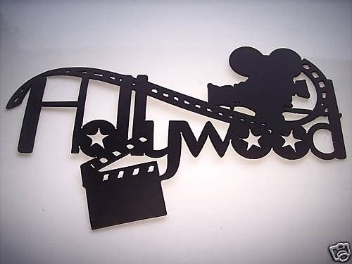 hand crafted hollywood movie camera and film home movie theater decor 2 foot metal wall art by. Black Bedroom Furniture Sets. Home Design Ideas