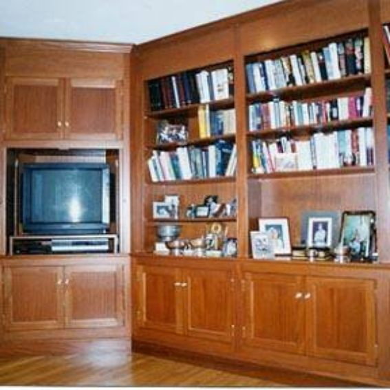 Mahogany Home Library Office: Custom Made Honduras Mahogany Home Library By Rogers