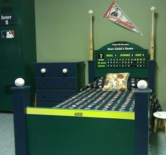 Hand Crafted Baseball Bed By Wwbeds Custom Furniture