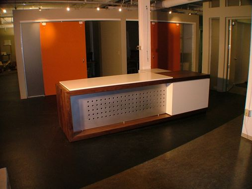 cool custom reception desk furniture | Custom Made Reception Desk by Woodworks Inc. | CustomMade.com