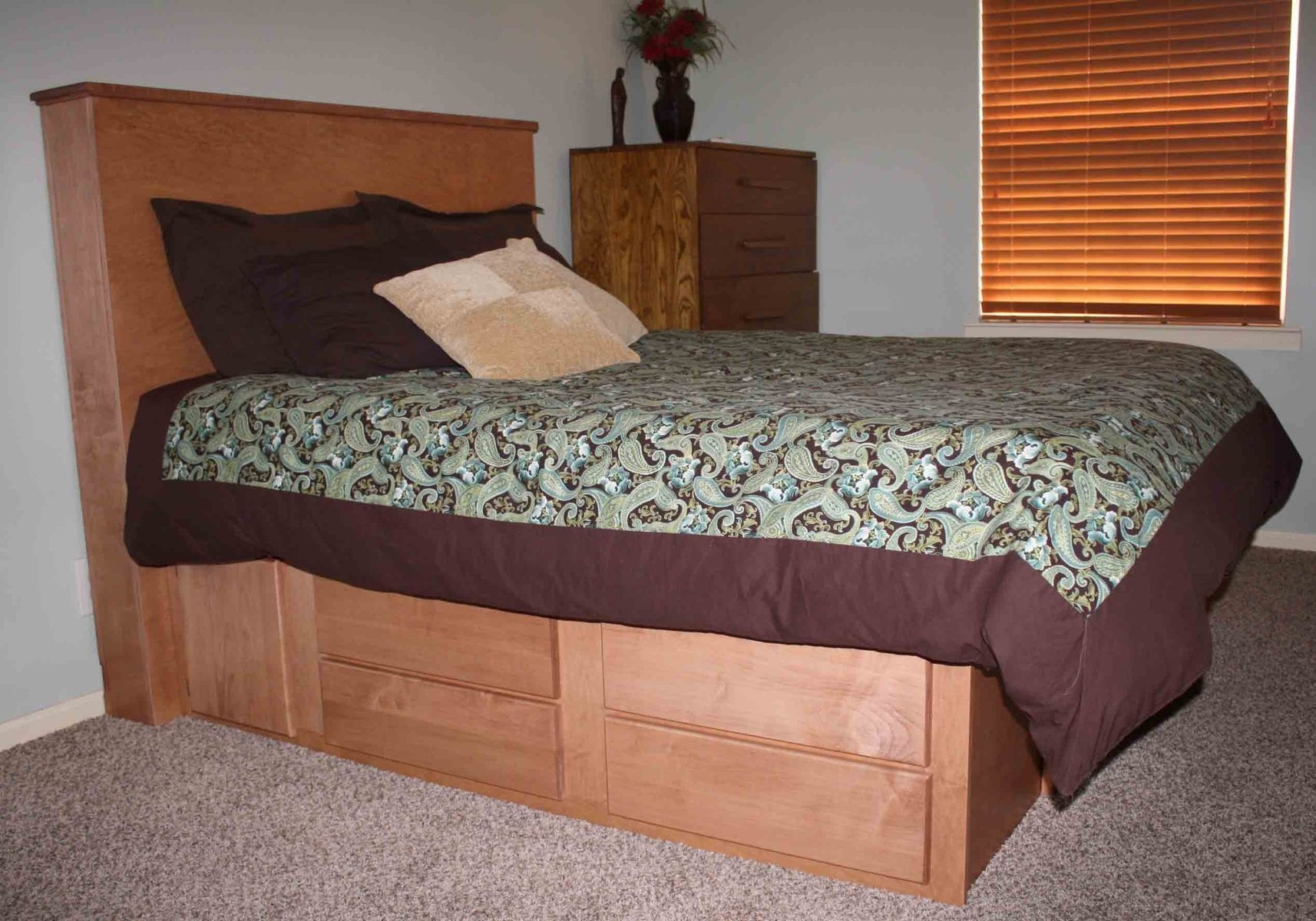 Hand crafted gun bed with hidden compartment by wwbeds for Furniture w hidden compartments