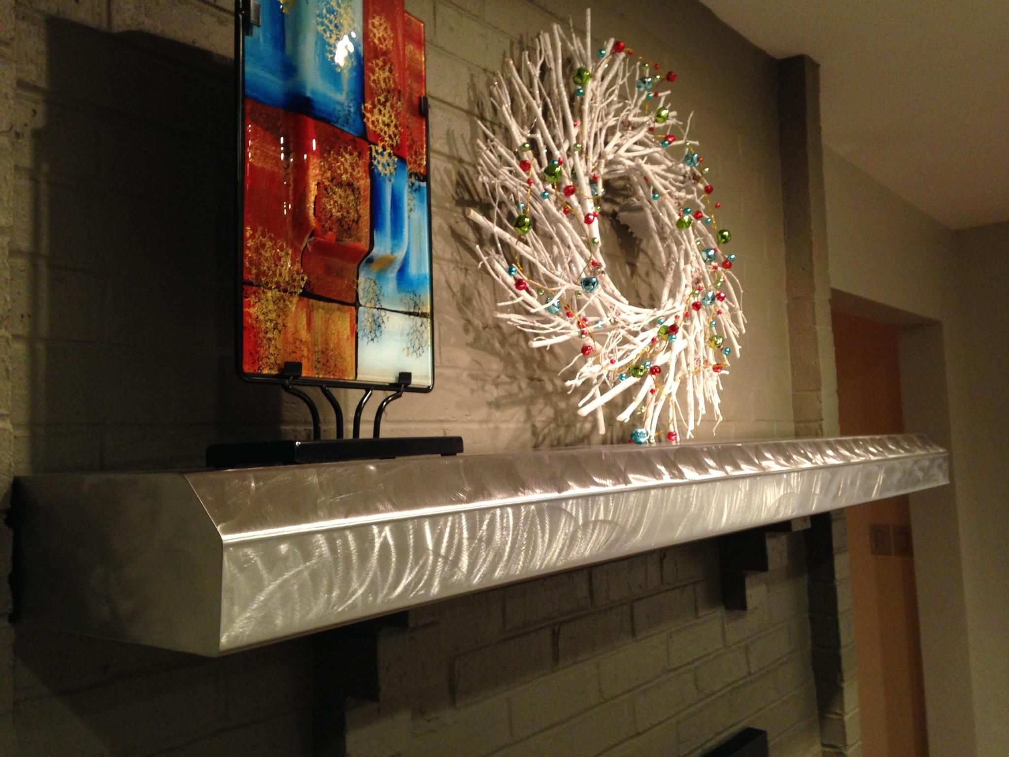 Buy Hand Made Stainless Fireplace Mantels And Floating Shelves Made To Order From James Perkins