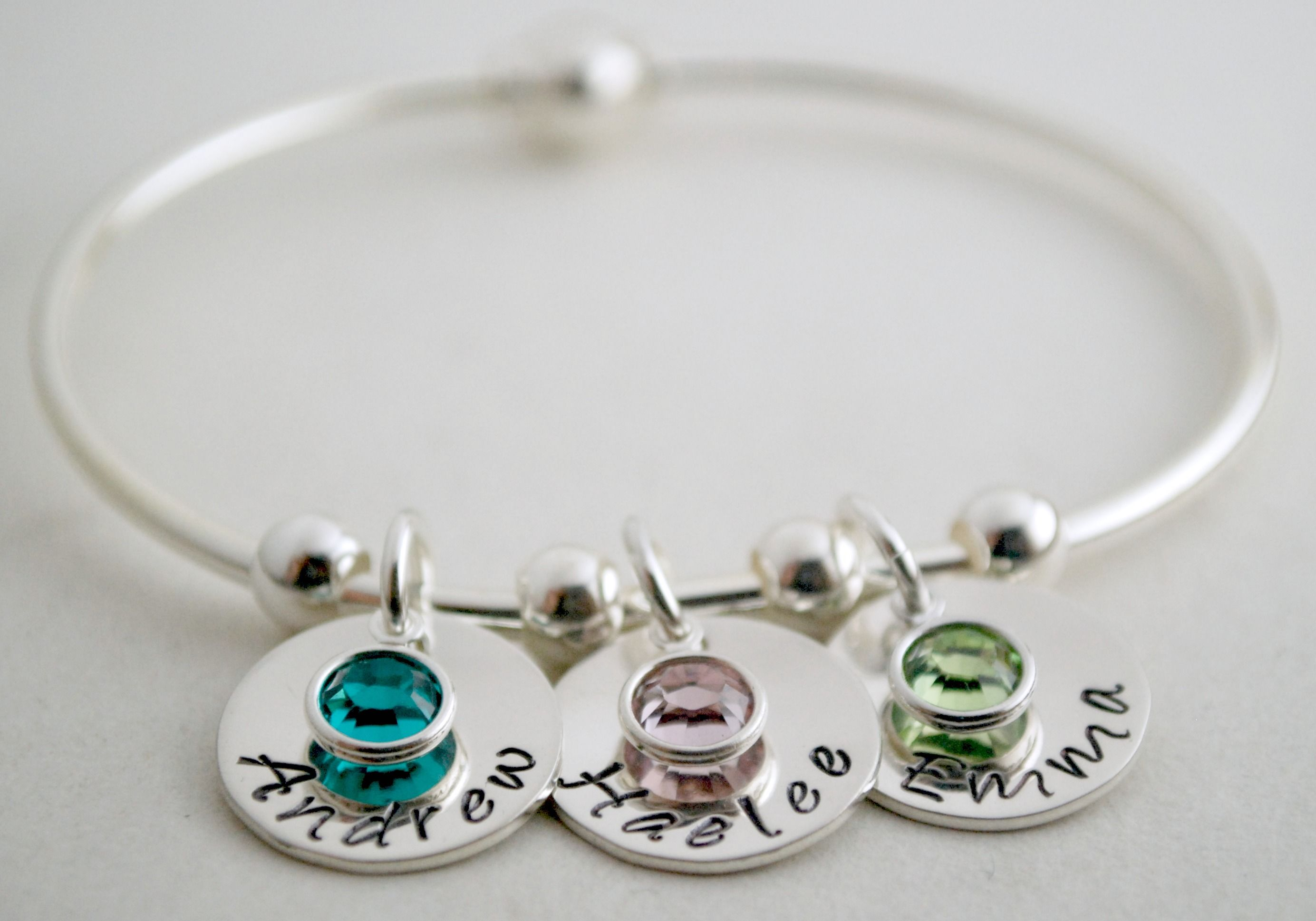 buy a made personalized bangle bracelet with name