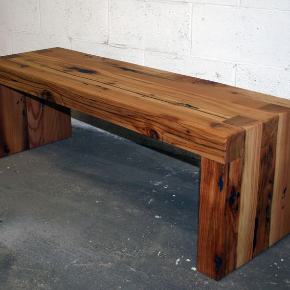 Buy A Hand Made Reclaimed Cedar Box Joint Bench Coffee Table Made To Order From Historicwoods