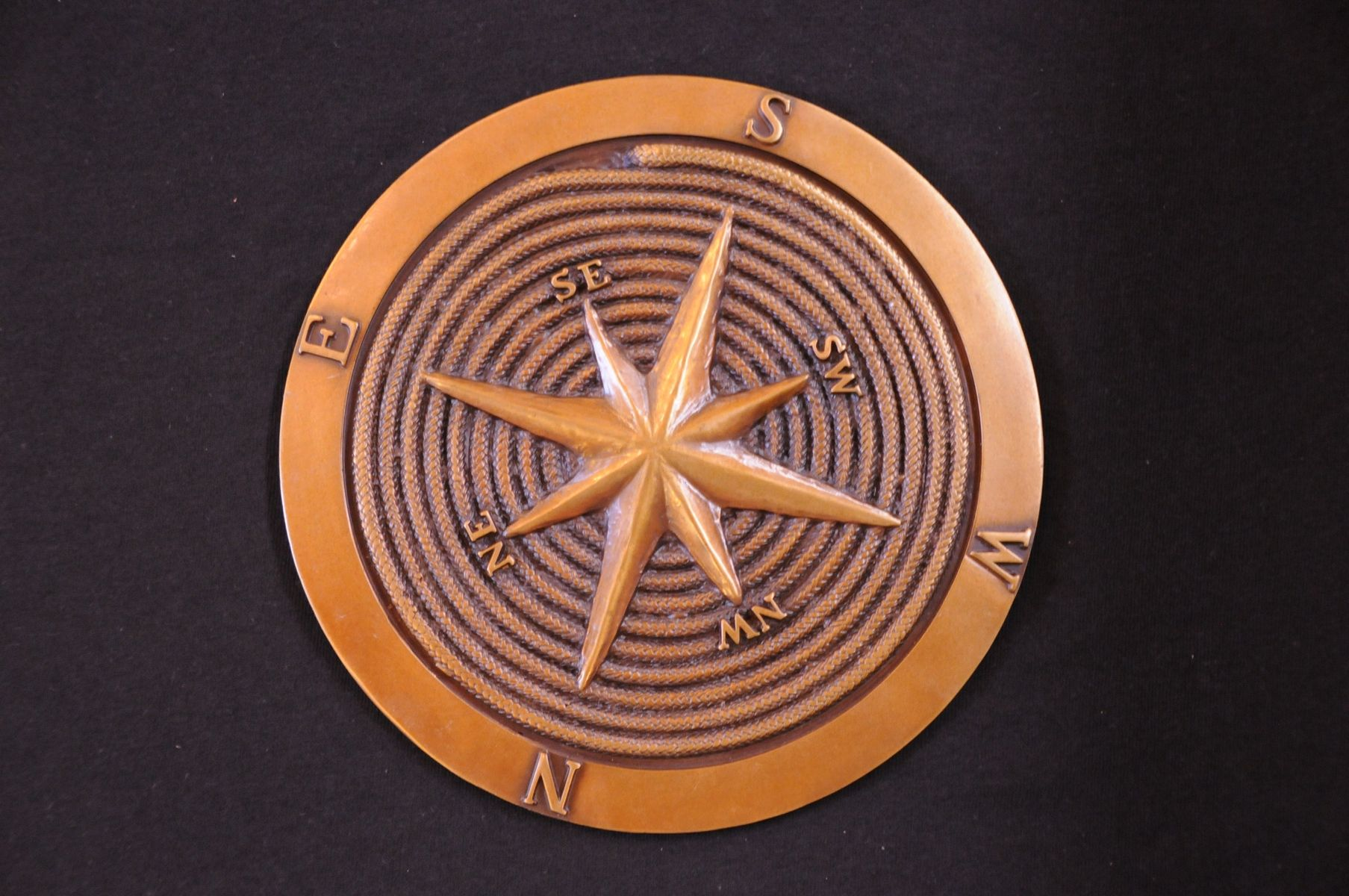 Hand Crafted Bronze Compass Rose 2 By Tuck Amp Holand
