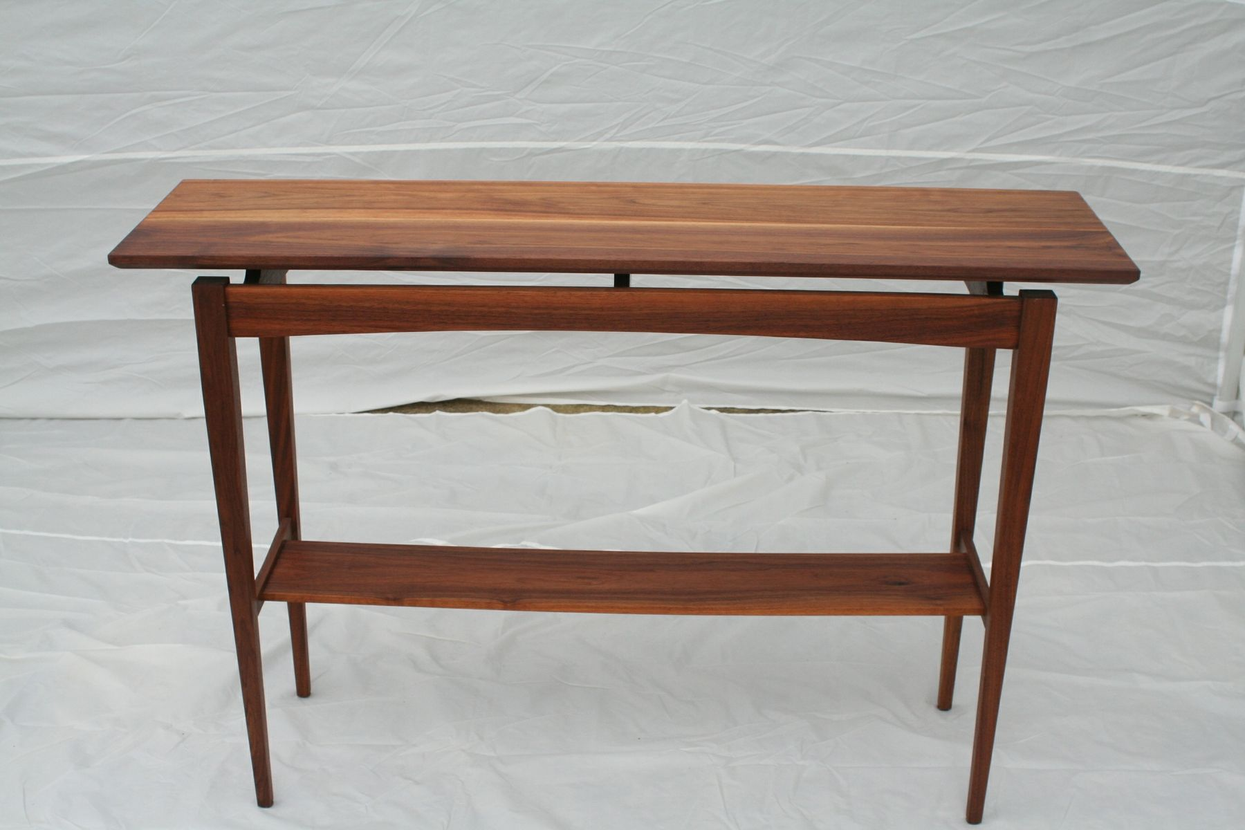 Hand made walnut sofa table by wood in motion for 6 sofa table