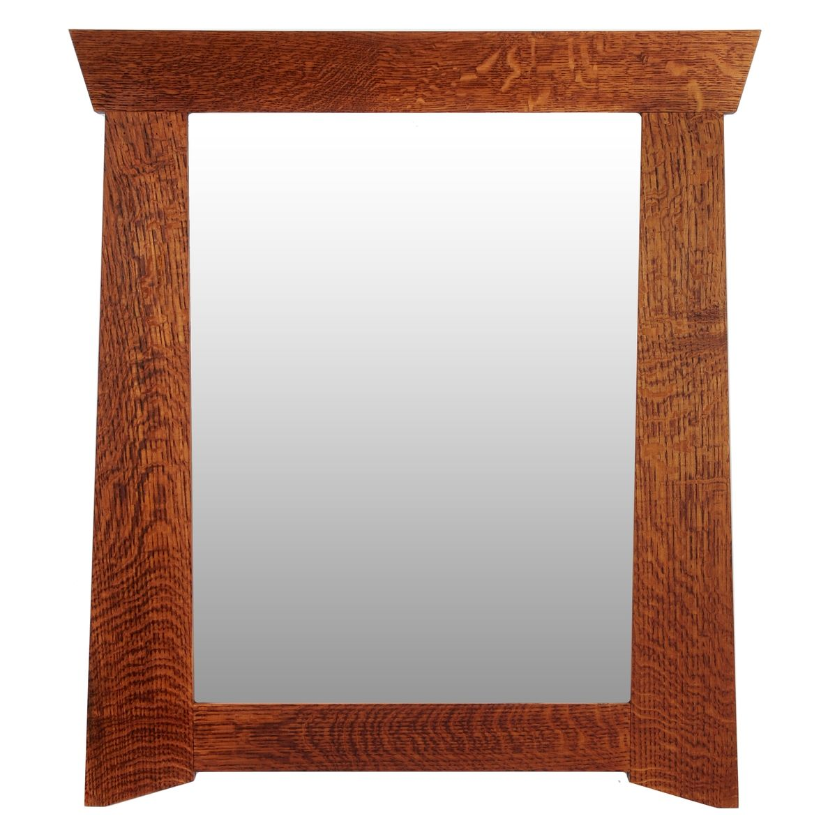 Hand crafted craftsman mirror the rosemont by thrasher for Custom made mirrors