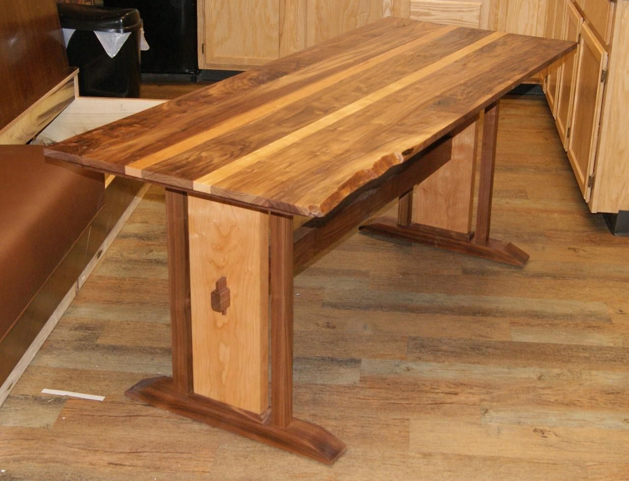 Handmade Rustic Trestle Table By Hayes Furniture Design