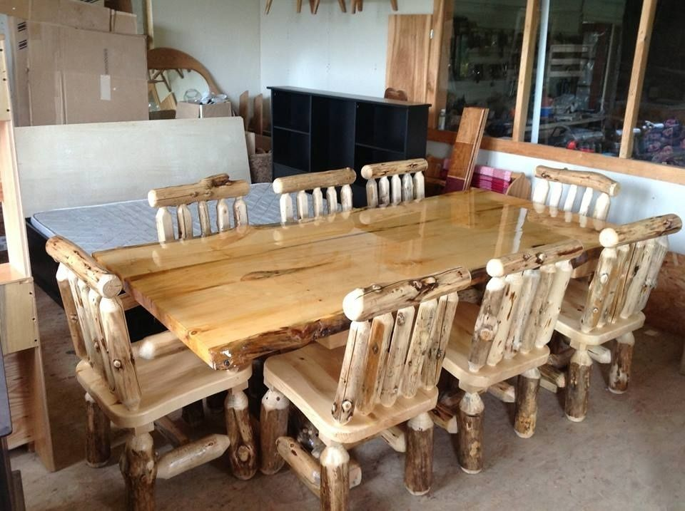 Handmade log furniture by the amish hook up What are chairs made of