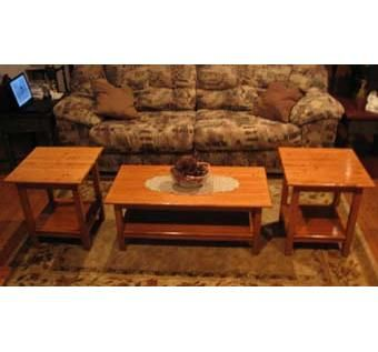 Custom made coffee table with matching end tables by moose eye creations Matching coffee table and end tables