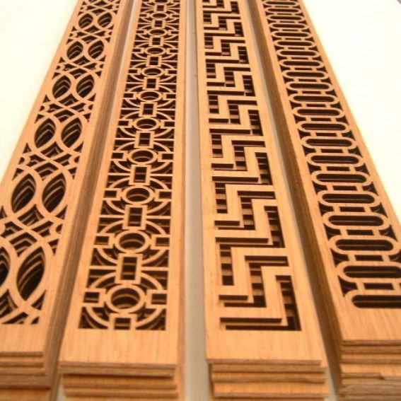 Custom Made Stock Pierced Fretwork Overlay Designs by CCW Woodworking ...