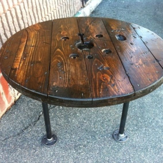 Hand Made Upcycled Spool Coffee Table By JBJunk Market