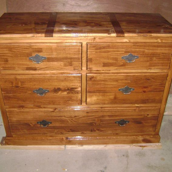 Custom 5 Drawer Knotty Pine Dresser By West End Woodworking