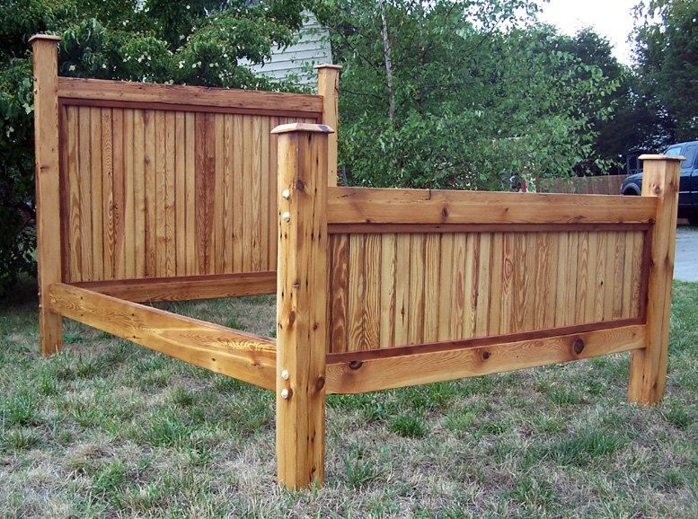 buy a hand crafted queen size bed frame made from reclaimed antique barnwood made to order from. Black Bedroom Furniture Sets. Home Design Ideas