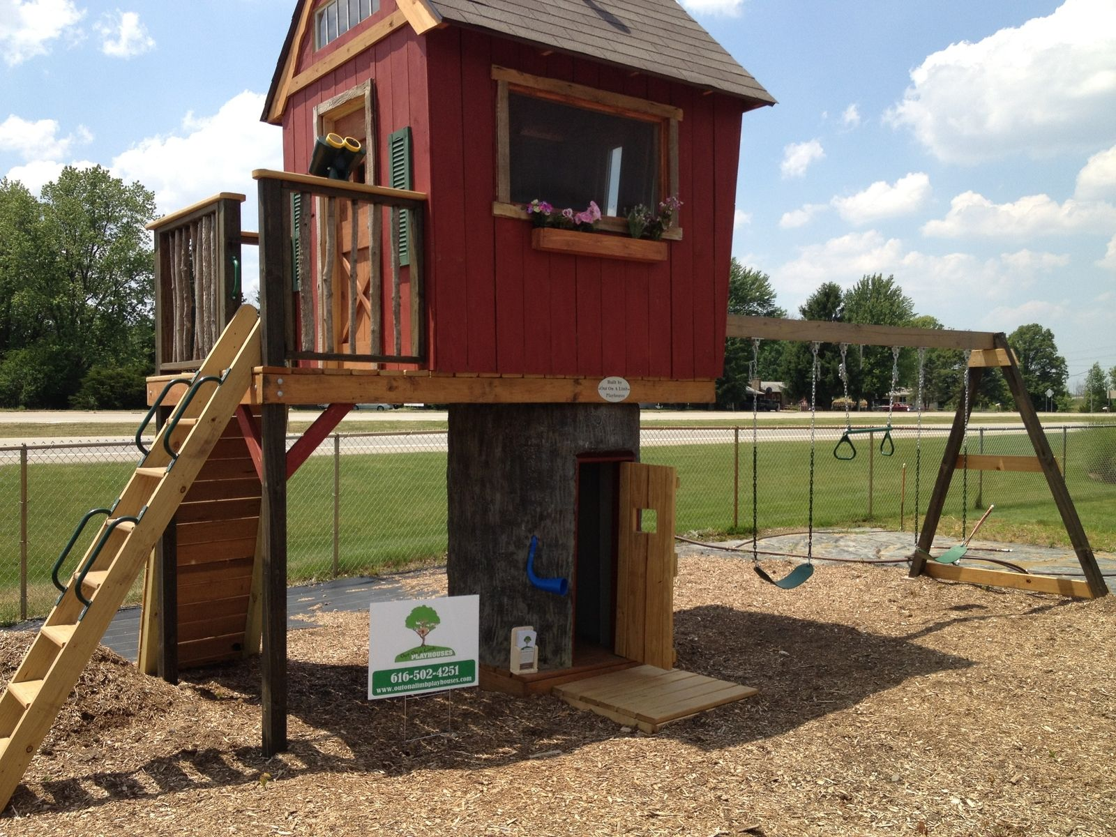 Hand Crafted Custom Playhouse By Out On A Limb Playhouses