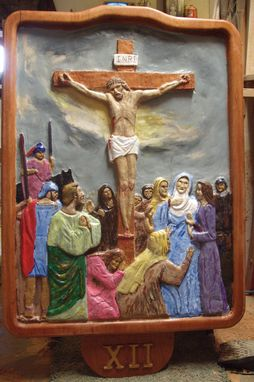 Custom Made Crucifix Relief Carving