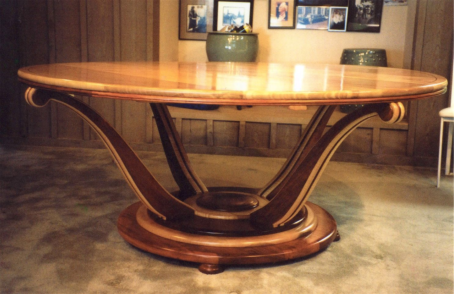 Hand Crafted Art Deco Dining Table By Louis Fry Craftsman