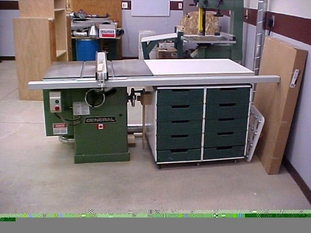 Custom Made Table Saw Side Storage Cabinet By The Plane Edge Llc