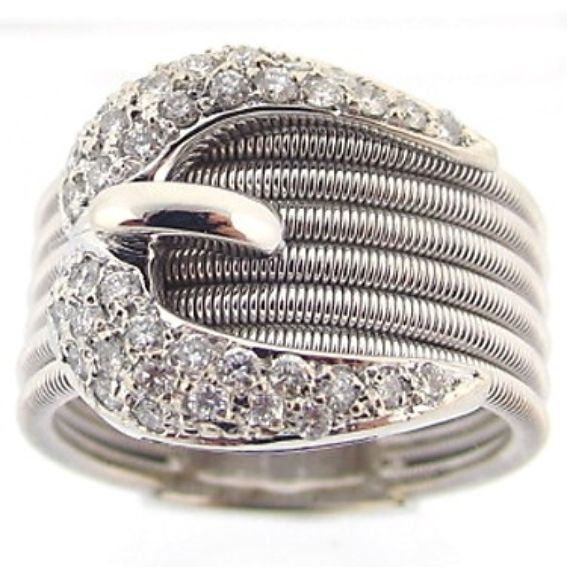 Custom Made Sossi Jewelry Home: Buy A Handmade Buckle Diamond Ring!, Made To Order From