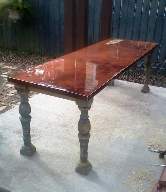 Custom Rustic Modern Dining Table Using Metal And Wood By
