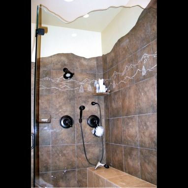 Custom Made Sandblasted Porcelain Bathroom Tile