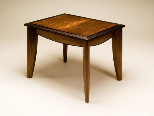 Custom Made Figured Walnut And Wenge Side Table