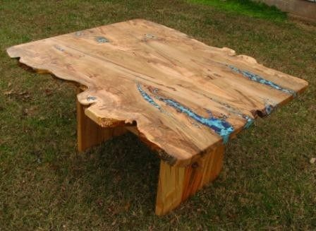 Custom Made Live Edge Ambrosia Maple Dining Table By