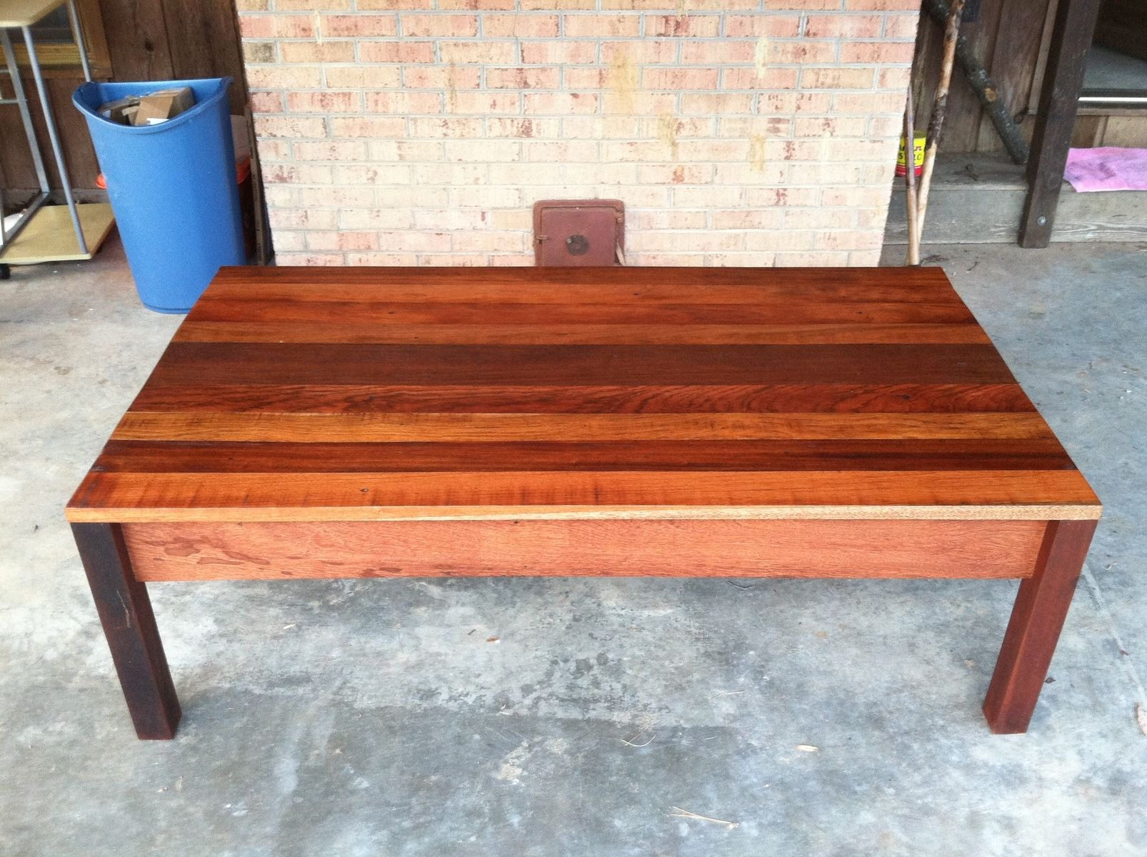 Custom Reclaimed Coffee Table Exotic South American Hardwood By Eno Custom Woodwork