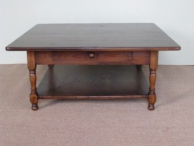 Hand Crafted 42 X 42 Square Oak Coffee Table By