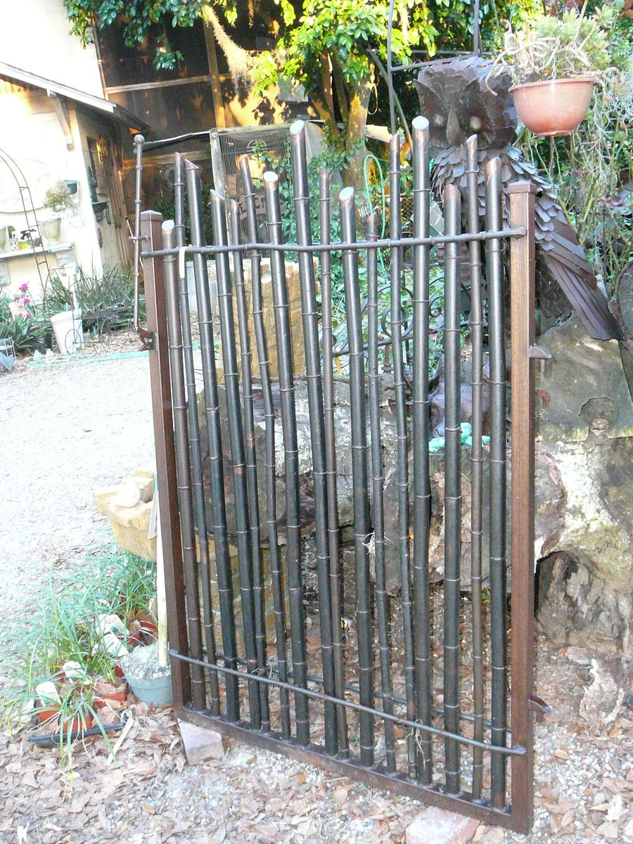 Hand Crafted Bamboo Garden Gate By Metals Amp Nature