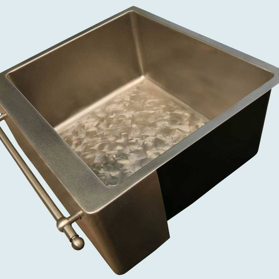 Butterfly Undermount Kitchen Sinks: Hand Crafted Bronze Sink With Towel Bar & Butterfly Bottom