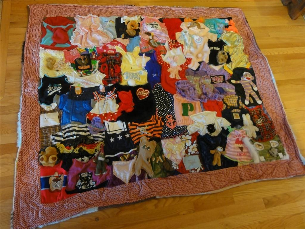 Hand Crafted Beloved Buddy Memory Quilt Custom Pet