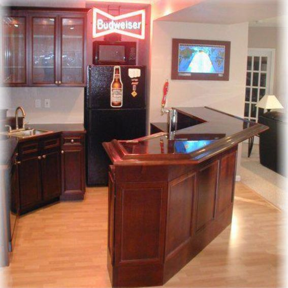 Custom Bars For Homes: Hand Made Custom Home Bar By Woodshop Artisans
