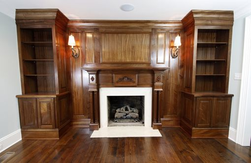 Custom Made Mahogany Built-In & Mantel