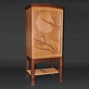 Hand Crafted Wine Cabinet By Dan Coors Woodworking And