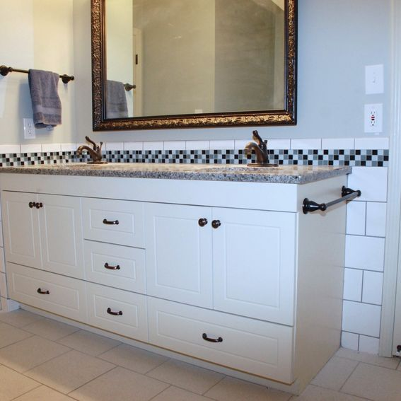 Custom Double Bathroom Vanity: Hand Crafted European Double Bathroom Vanity By Belak