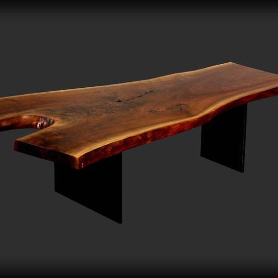 Hand Crafted Live Edge Walnut Coffee Table By Blunt