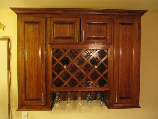 Custom Made Wine Rack Cabinet