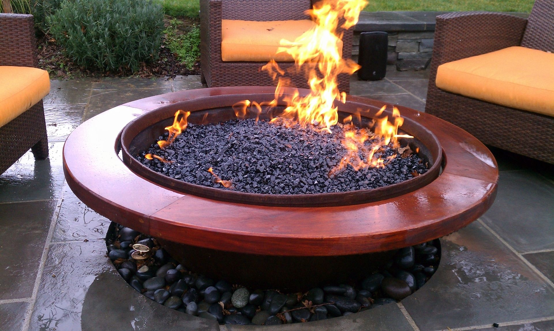 Handmade Outdoor Gas Fire Pit By SawdustampSteel