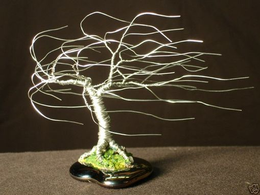 Custom Made Wind Swept - Mini Wire Tree Sculpture