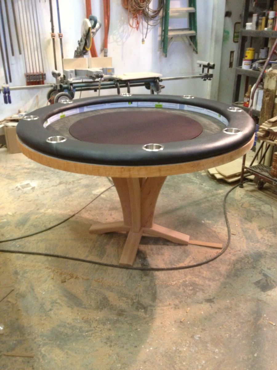 Hand Crafted 60 Quot Round Poker Table By Raw Creations Cnc