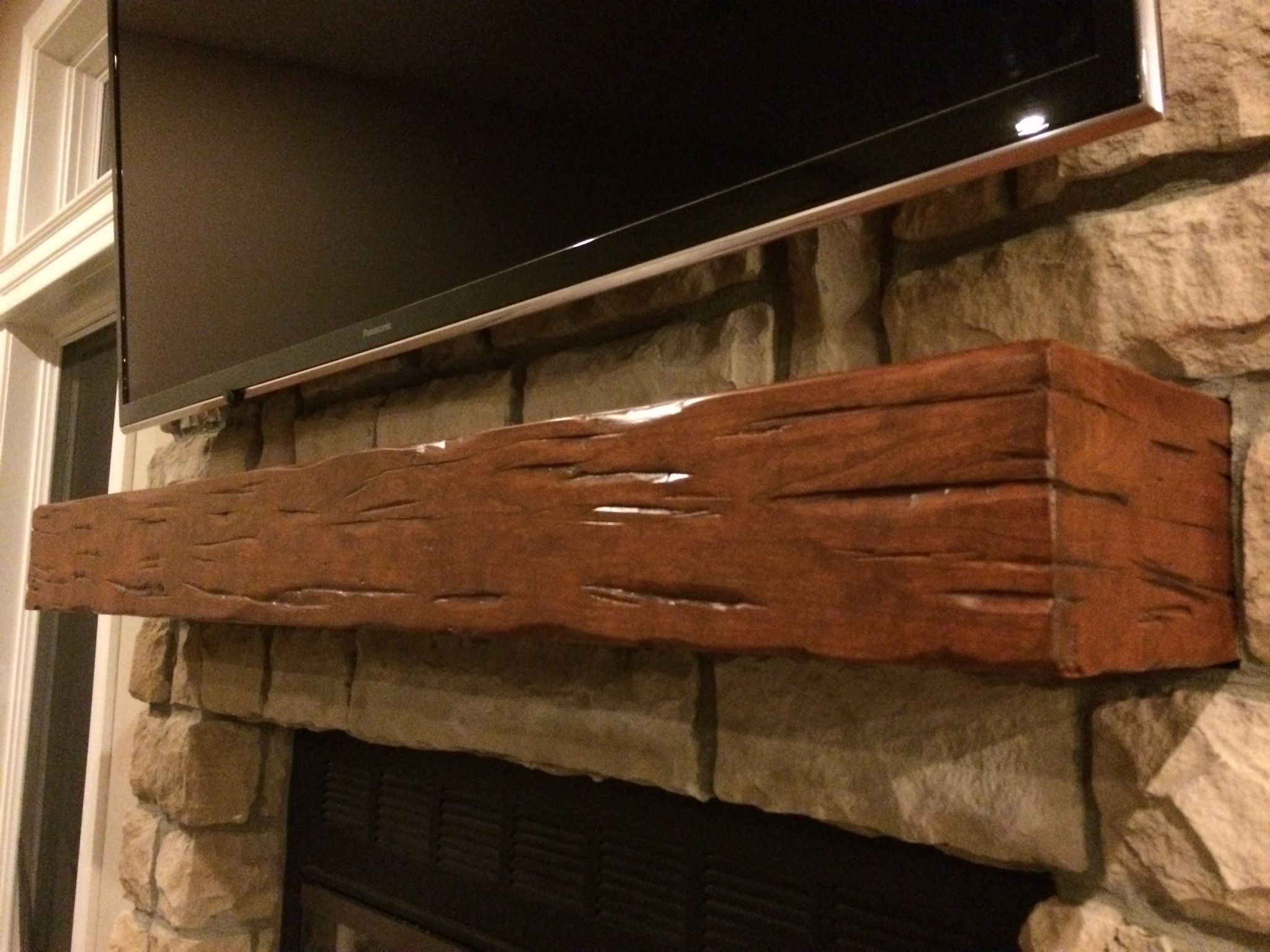 Buy A Hand Crafted Rustic Distressed Cherry Mantel Made