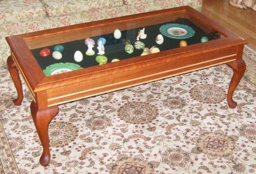 Hand Crafted Curio Coffee Table By Carl Larson