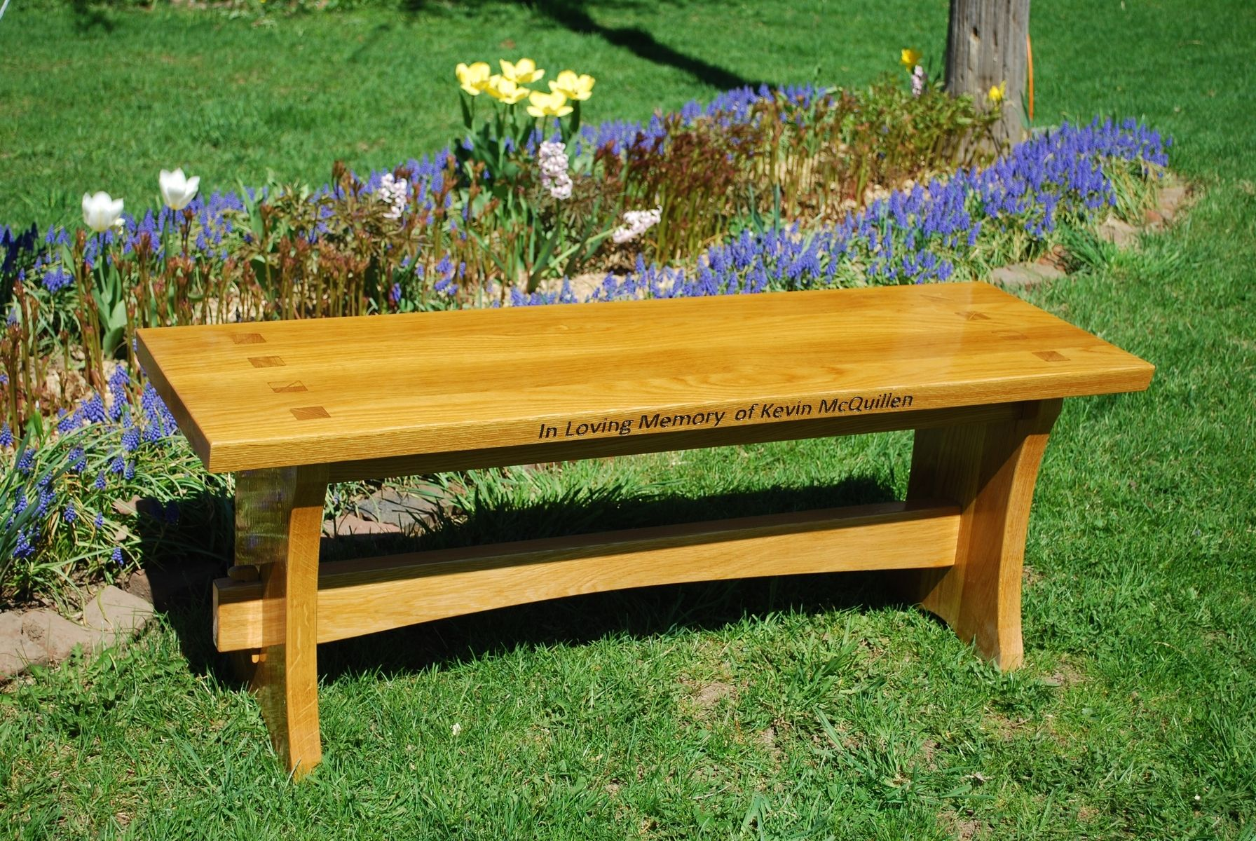 Handmade Memorial Wood Bench By Larue Woodworking