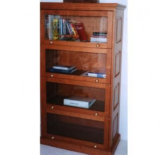 Custom Made Hardwood Amish Barrister Bookcase